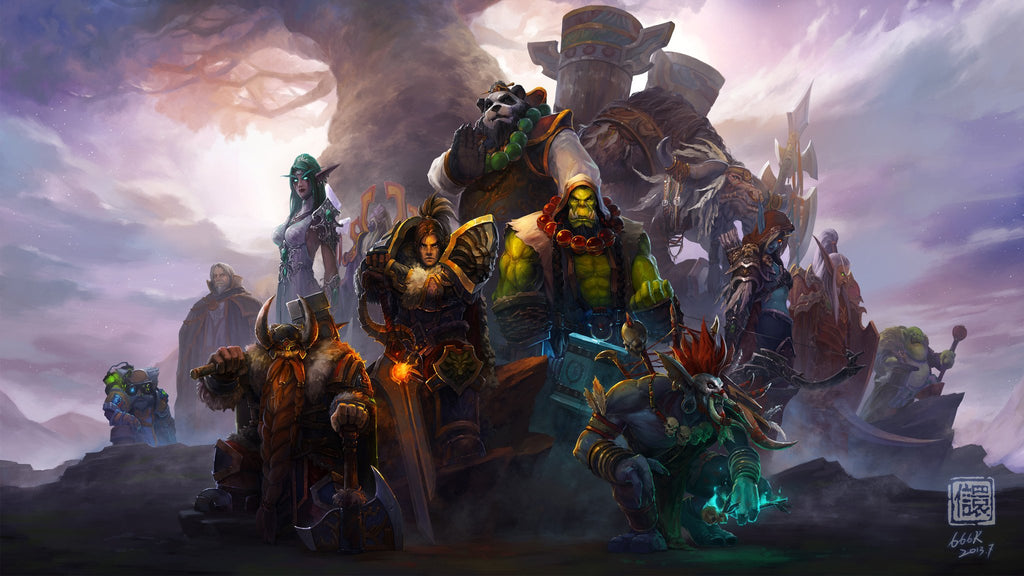 World of Warcraft Characters 4K Game Silk Wall Art Poster Print ...