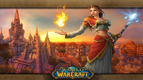 World of Warcraft Girl Game Silk Wall Art Poster Print - 13x20 inch (33x50cm)