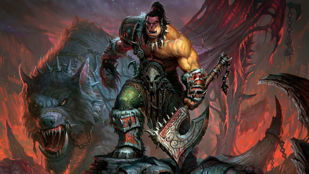 World Of Warcraft Orc 4k Game Silk Wall Art Poster Print 20x30