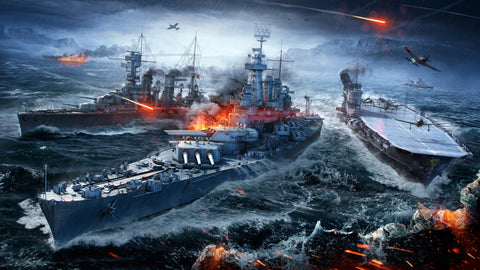 World of Warships Naval Sea Battle 5K Game Silk Wall Art Poster Print - 32x48 inch (80x120cm)