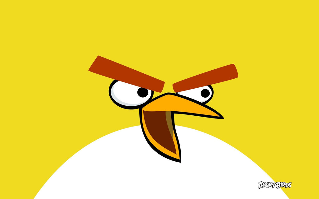 Yellow Bird In Angry Birds Game Silk Wall Art Poster Print