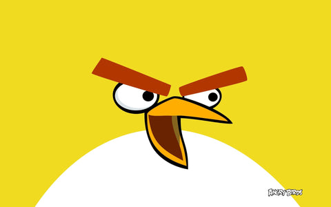 Yellow Bird in Angry Birds Game Silk Wall Art Poster Print - 13x20 inch (33x50cm)