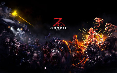 Zombie Online Game Silk Wall Art Poster Print - 24x36 inch (60x90cm)