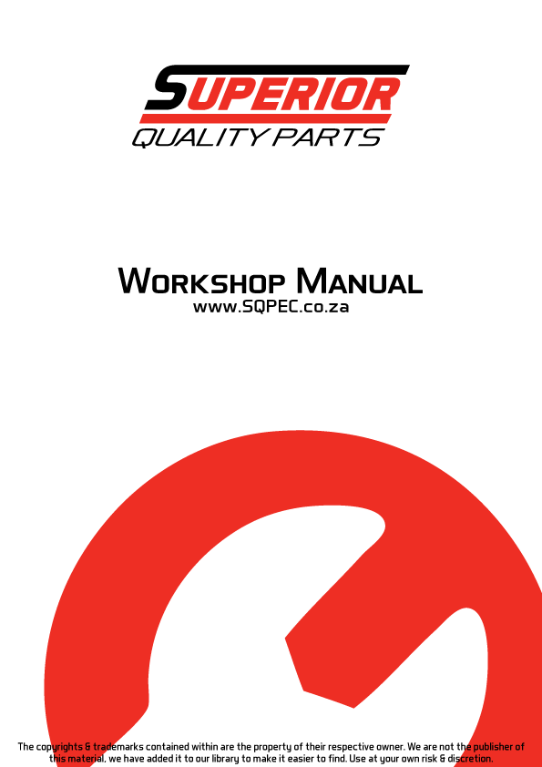 Mitsubishi S4S S6S Workshop Engine Repair Manual