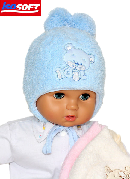 Winter hats unisex in blue, cream,grey and pink