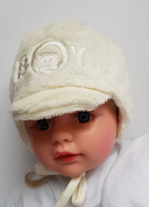 BOY winter hat  newborn to 4 months