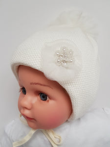 Girls winter hats Bids decor sizes from Newborn-6 months