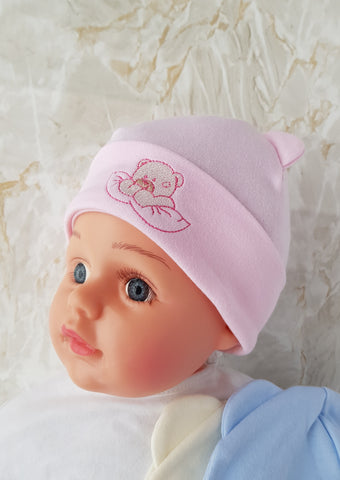 Baby Cotton  Beanie teddy bear newborn to 9 months