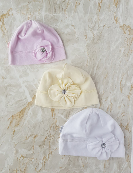 Baby Cotton Beanie size 36-44 newborn to 9 months