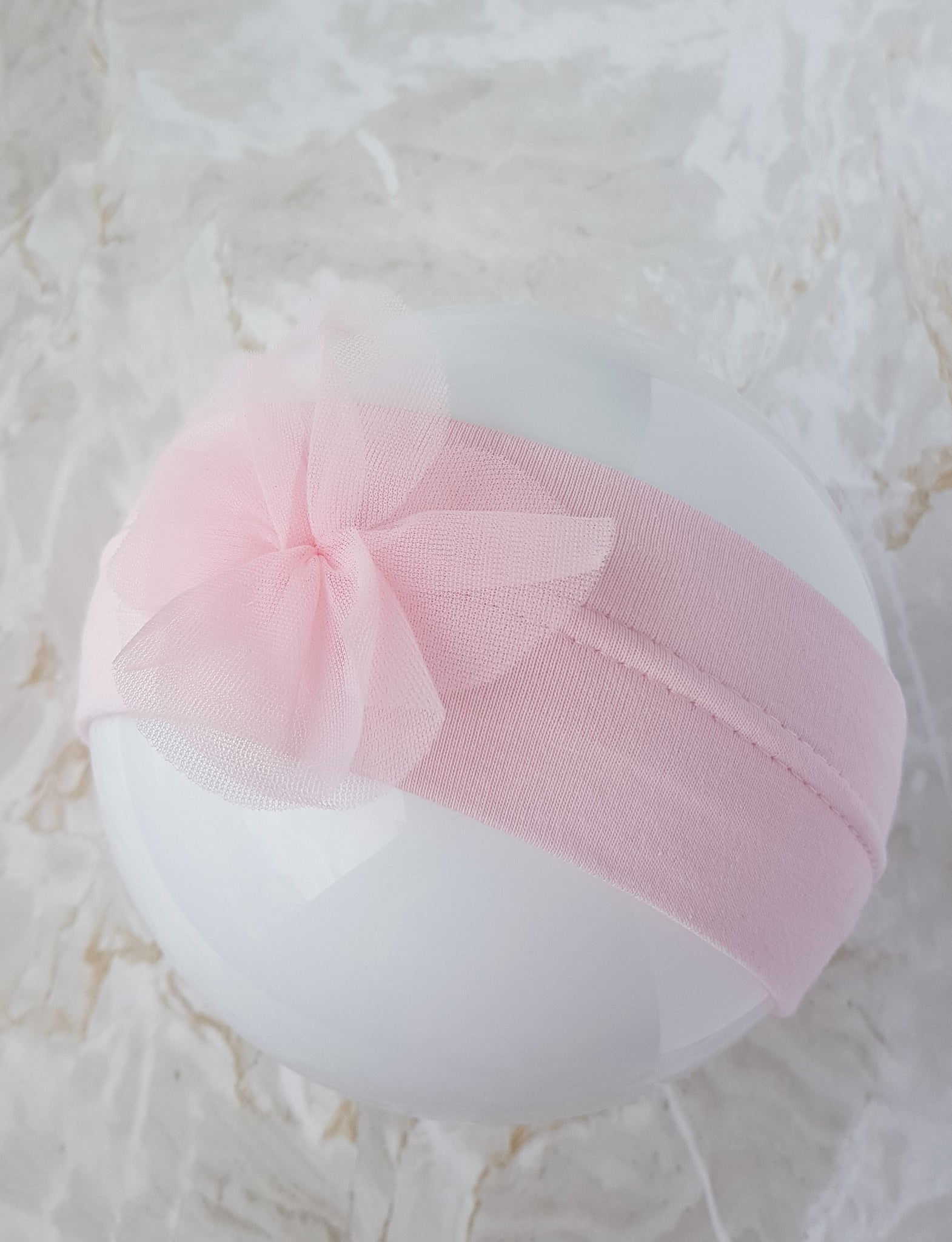 Cotton flower Baby Girl headband, 7 to 16 months old,  head size 46-48cm