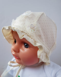 Baby Girl summer hat Sun hat with strings