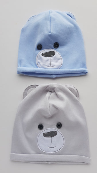 Beanie For a Little Boy With Bear Design Kids Hat