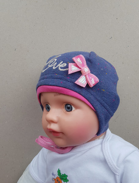 Roxana baby girl hat sizes Newborn- 6 months