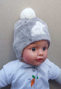 Winter polar bear fleece hat unisex