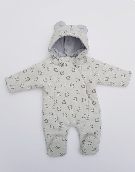 Baby Pram Suit All-In-One snowsuit TEDDY sizes 62(0-3 months) , 68(3-6 months), 74(6-9 months)