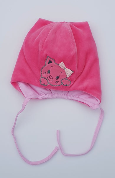 Little kitten hat for winter girl warm hat lovinghats wiazane czapki na zime