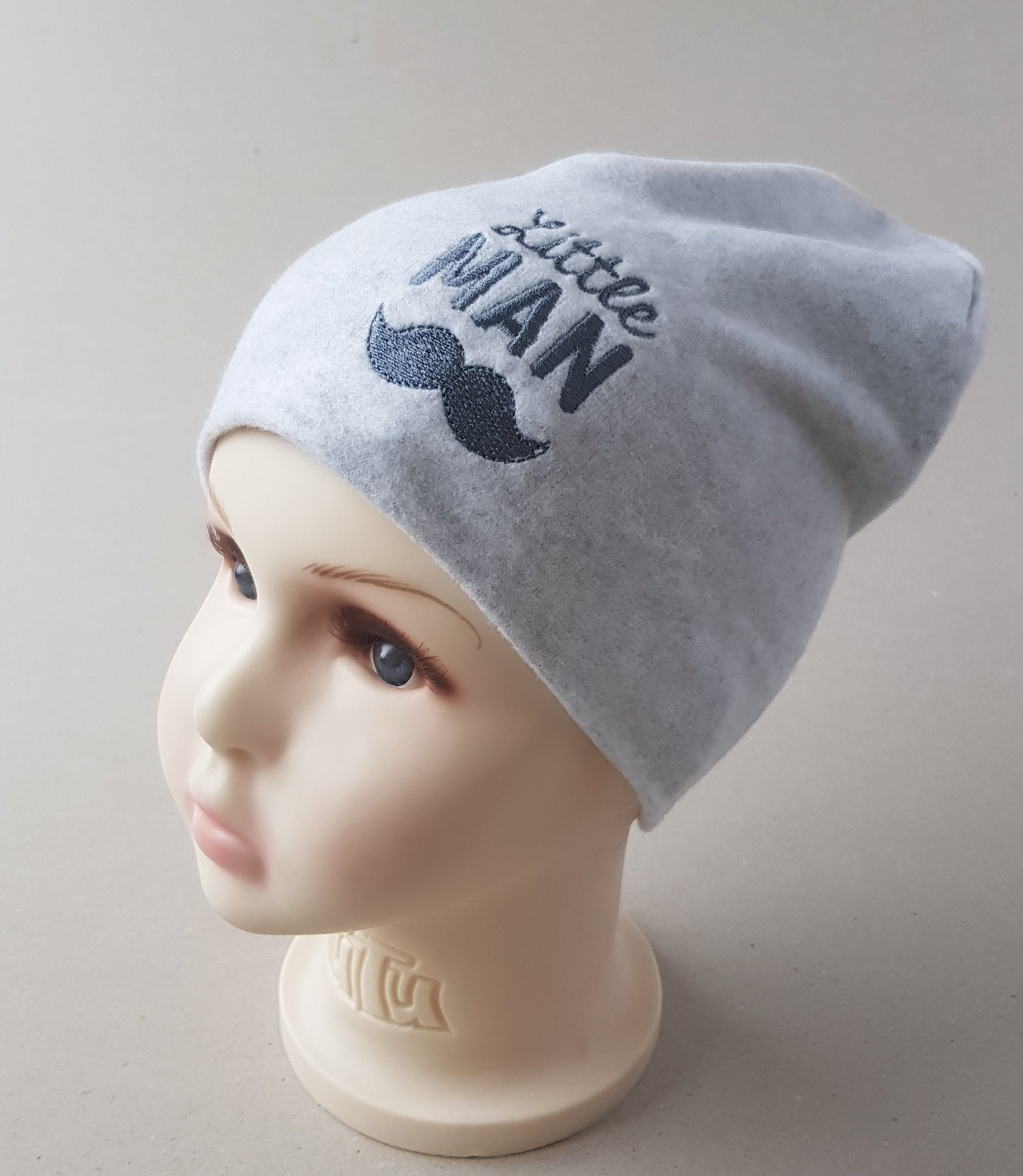 Beanie hat for boys Little MAN sizes 42, 44, 46, 48, 50 (from 4 months up to 4  years old and more.)