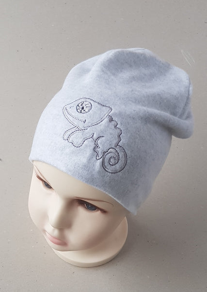 Beanie hat for boys CAMELEON  ( from 4 months up to 4  years old and more.)