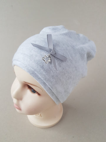 Beanie warm hat for girls RIBBON  6 months- 5 years