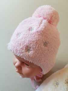 Winter hats for girls Christmas Snowflakes Newborn to 6 months
