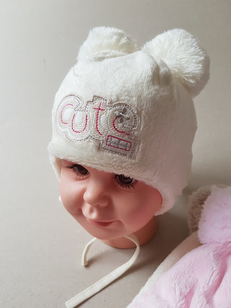 Winter Girls Hat -Cute sizes from 38 to 46  newborn to 9 months