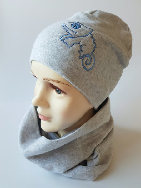Winter Beanie Boys CAMELEON 1-15 years size 50,52,54