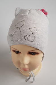 Winter Hat KITTENS 4 months to 4 years old  (sizes 44 46 48 50 52)