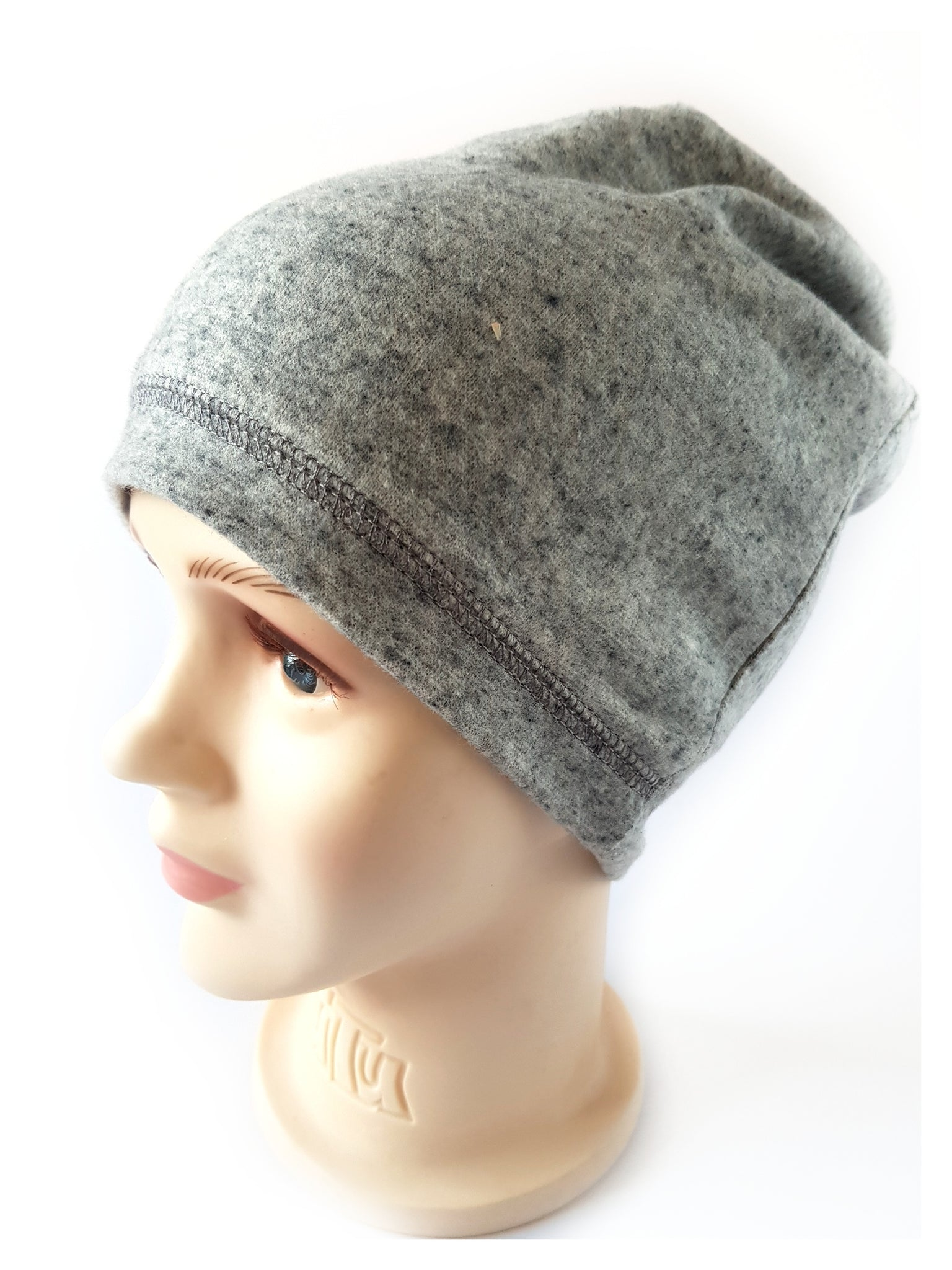 Beanie Warm Hat plain grey 1-15 years