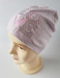 Winter Beanie For Girl LOVE 2-11 years