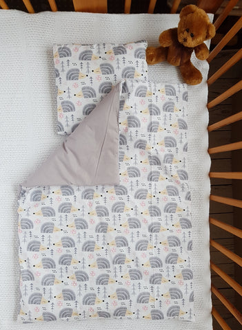 BABY BLANKET AND PILLOW SET WARM DUVET FOR A CHILD LOVINGHATS