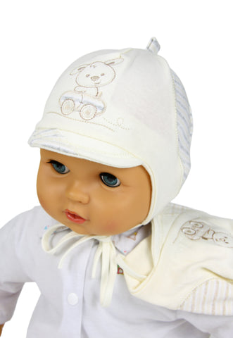 Baby boy hat with a beak - newborn to 5 months