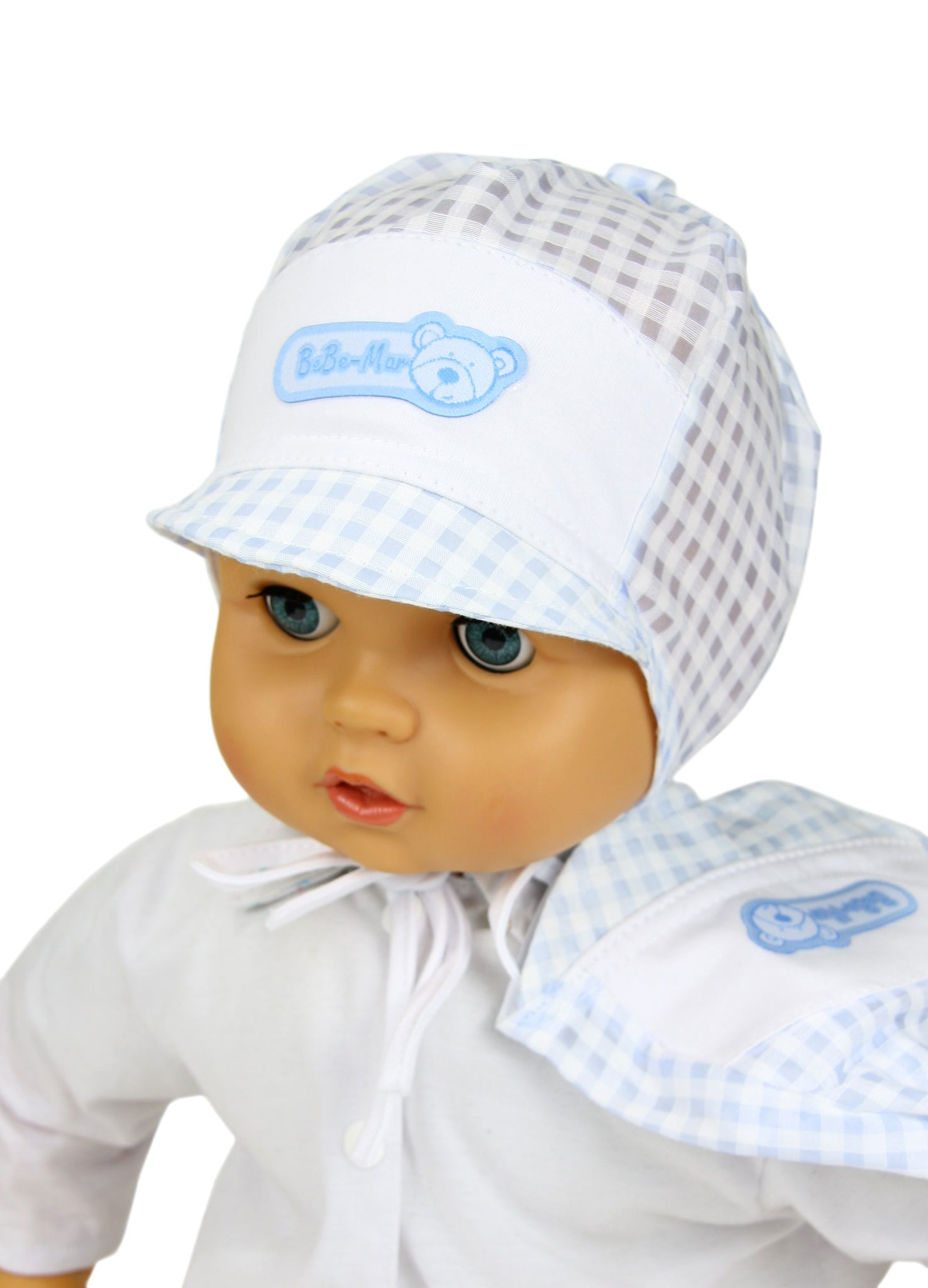 Baby boy summer hat with beak