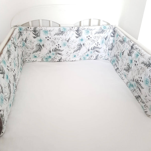 NURSERY ACCESSORIES TODDLER ROOM DECOR COTTON FABRIC BUMPER