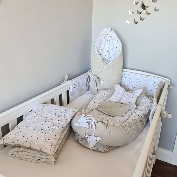 baby cot bedding swaddle nest pod cot bumper baby accessories in ireland evCushy