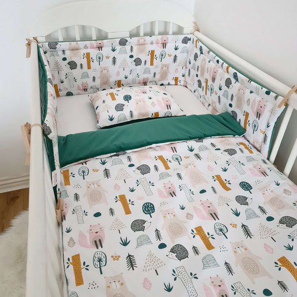 luxurious baby bedding from velvet and cotton cot bumper protector duvet