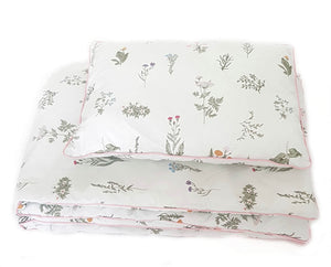 BLANKET AND PILLOW SET READY TO USE BEDDING WITH FILLING EVCUSHY IRELAND
