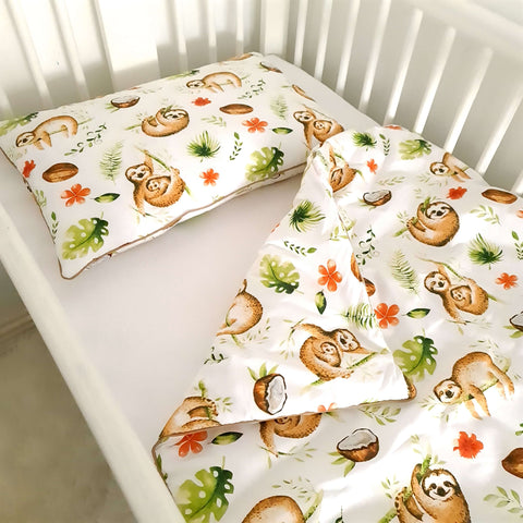 Baby bedding with filling- double-sided 'M' - Sloth