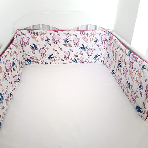 evcushy nursery cot bed bumper