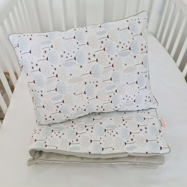 Baby bedding with filling- double-sided 'M'- Dandelion organic