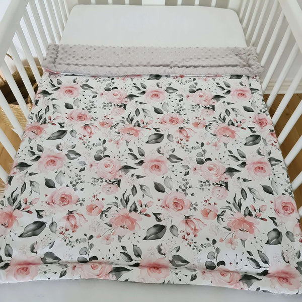 cosy soft blanket for baby girl organic