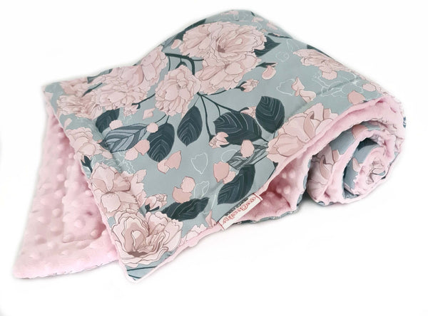 luxuriously soft blanket for a baby girl- warm blanket for pram cot carry cot