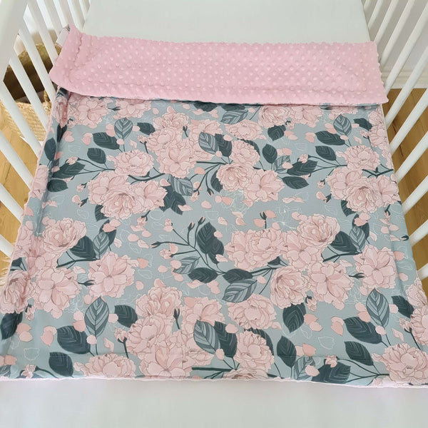 Pink blanket with stylish design for baby girl present from evcushy