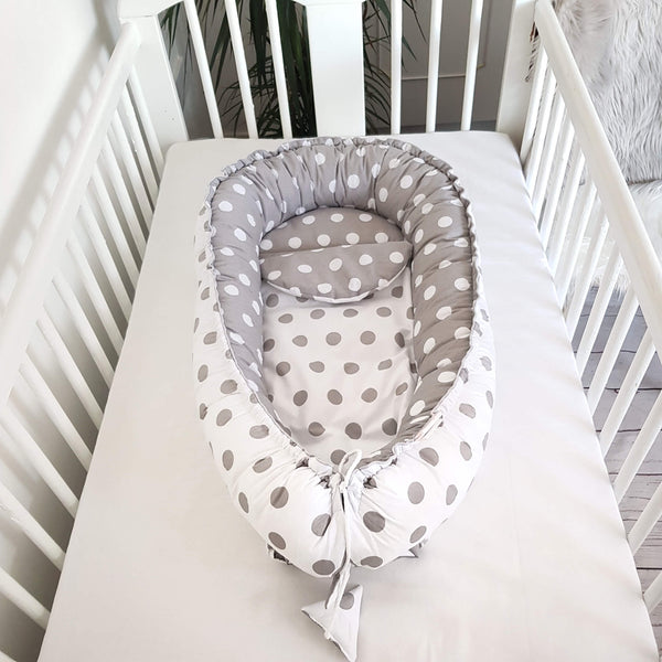 BABY SLEEPING POD DELUXE 5 PIECE SET -POLKA DOT