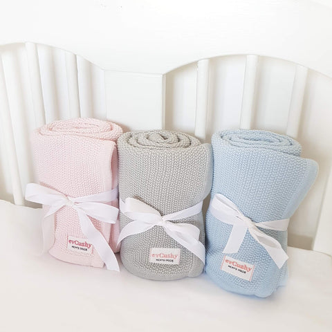 bamboo blankets for babies from evcushy in pink blue and grey