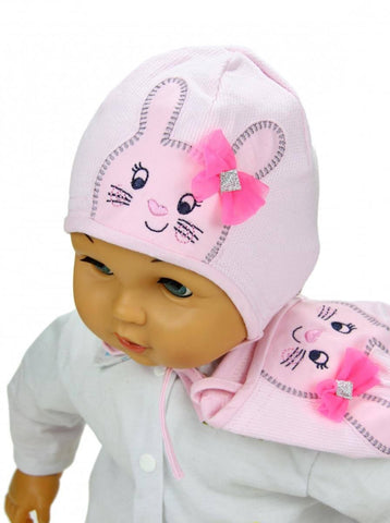 baby girl hat bunny 3-34