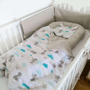 cot bedding set bumper sleep pod blanket and pillow