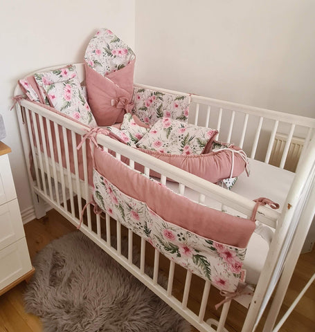 newborn bundle baby nest cot bumper bedding cot tidy