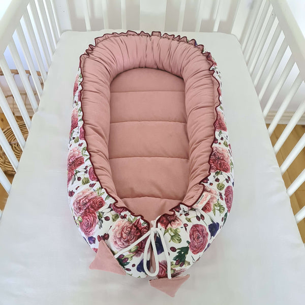 Baby Nest Deluxe - Organic- Roses