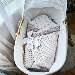 Swaddle blanket - 3 in 1 Grey-Stars