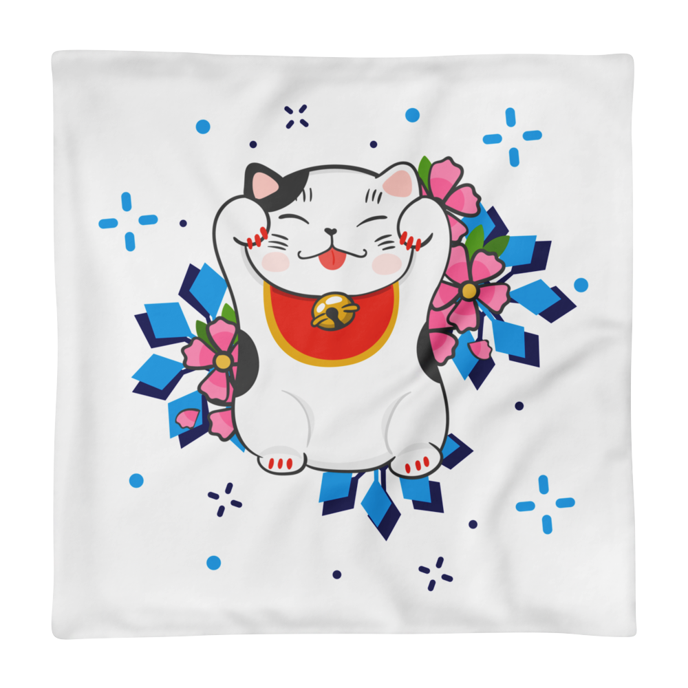 Lucky Cat 18x18 Pillow case